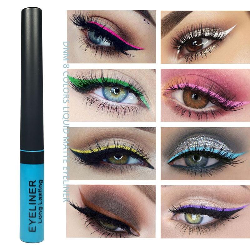 Color Matte Liquid Eyeliner Pencil Durable Natural Black Blue Party Waterproof Pigment Eyeliner High Gloss Matte Waterproof Hot