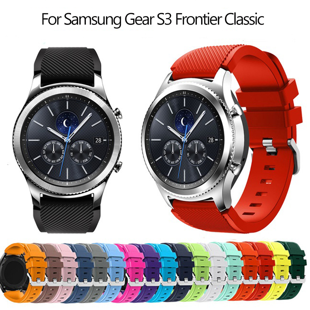 Hot Gear S3 Frontier Classic Band For Samsung Galaxy Watch 46mm Strap 22mm Silicone Bracelet Huawei Watch GT Strap S3 Smartwatch