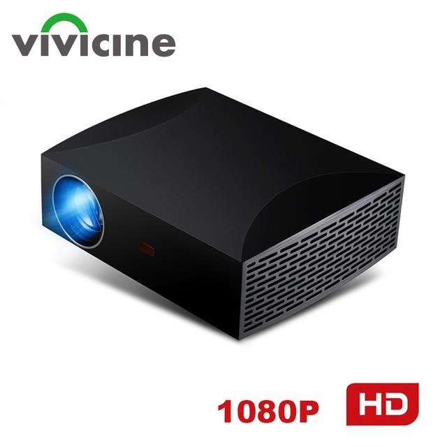 جهاز عرض Vivicine F30 1920X1080 كامل HD ، HDMI USB الكمبيوتر 1080p LED الرئيسية الوسائط المتعددة لعبة فيديو بروجيكتور