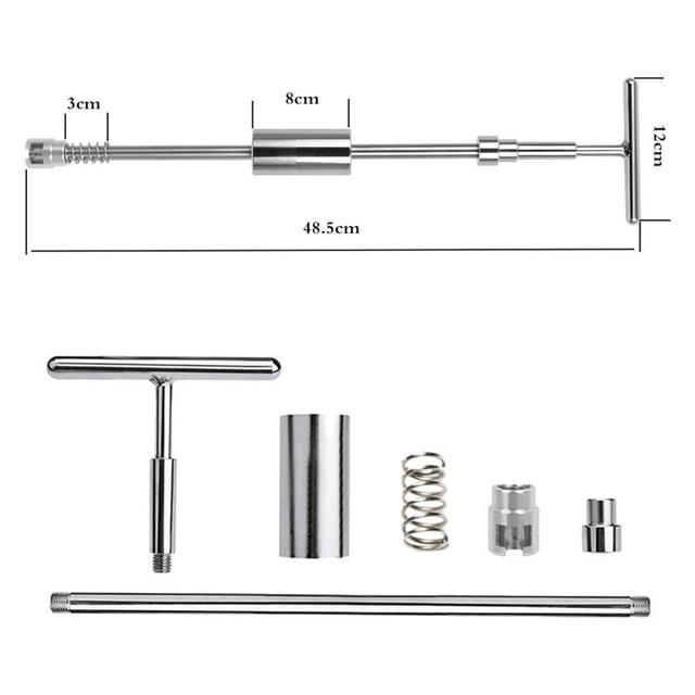 Kit darrachage de bosses sans peinture | Bâtons de colle, marteau coulissant, onglets de colle, marteau inversé pour dommages de la grêle