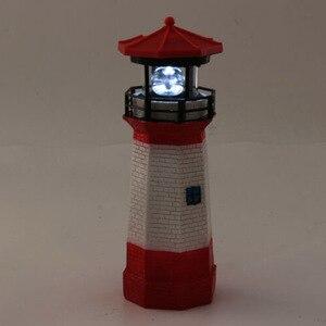 Светодиодный маяк на солнечной энергии, водонепроницаемая статуя, вращающийся садовый двор, наружное освещение, Декор, дропшиппинг FAS