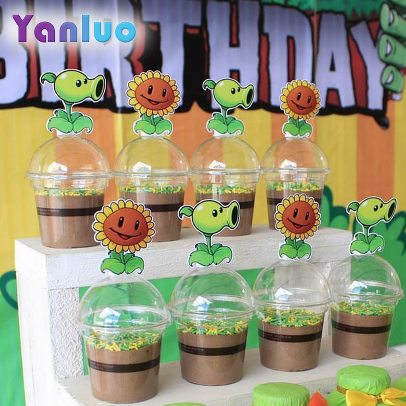 24pcs Plant Vs Zombie Party Cake Topper Kids Birthday Party Decoration Baby Shower Supplies Dessert Decoration Cake Decorating Supplies Aliexpress