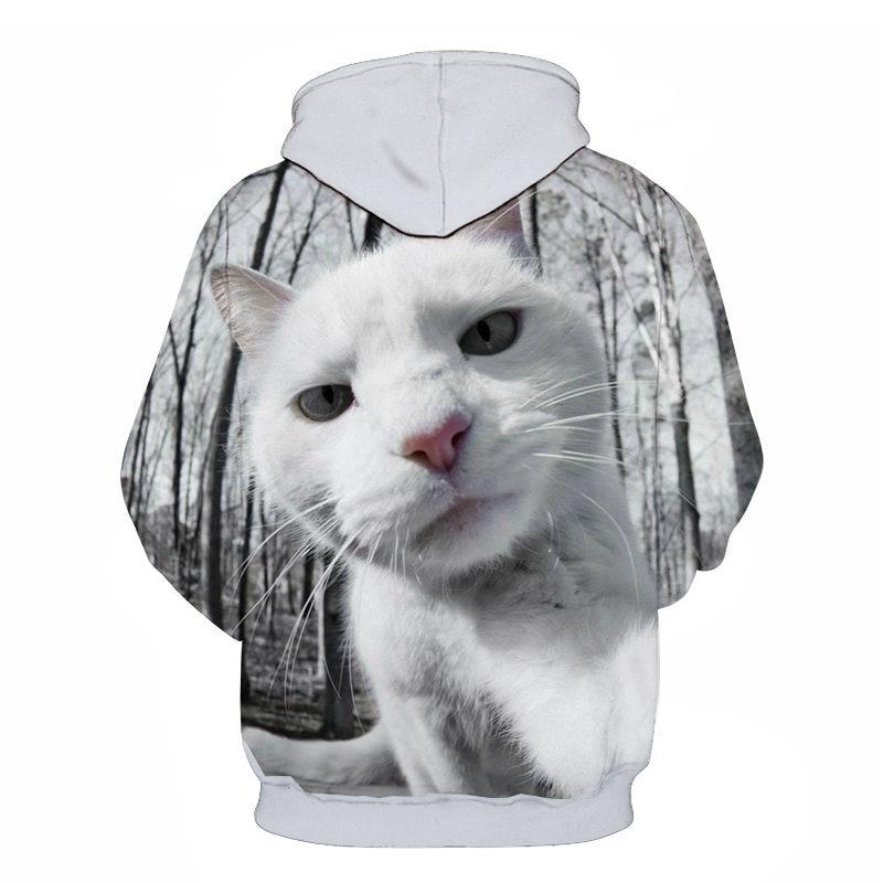 Women's Two Cat Sweatshirts Long Sleeve 3D Hoodies Sweatshirt Pullover Tops Blouse Pullover Hoodie Poleron mujer Confidante Tops 68