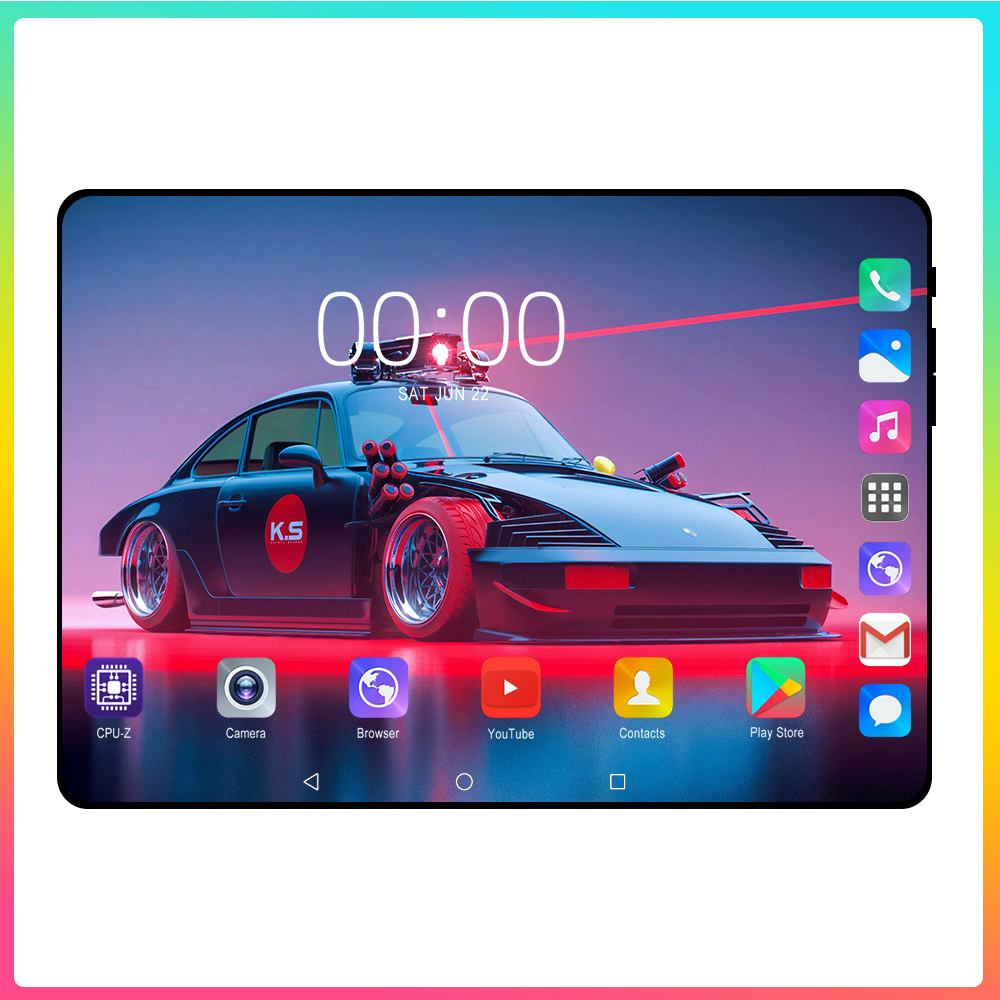 2020 New 4G FDD LTE 10.1 Inch Tablet PC Android 9.0 Octa Core RAM 6GB ROM 128GB Smart Phone Dual SIM WIFI GPS Tablets 10 10.1