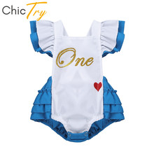 Romper Party-Costume Roleplay Carnival Chictry Halloween Girls Flutter-Sleeve Letters-Printed