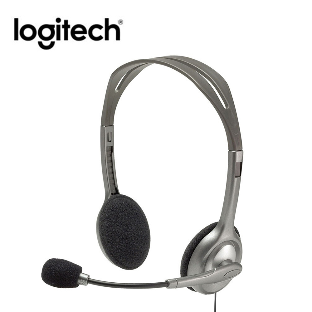 Logitech H110 H111 Stereo Headset with Microphone 3 5mm Wired Headphones Stereo sound Headset for music games and calls instock