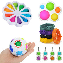 Newest Decompression Bracelet Fidget Simple Dimple Toy Pops It Stress Relief Hand Fidget Toys For Kids Adults Autism Toys