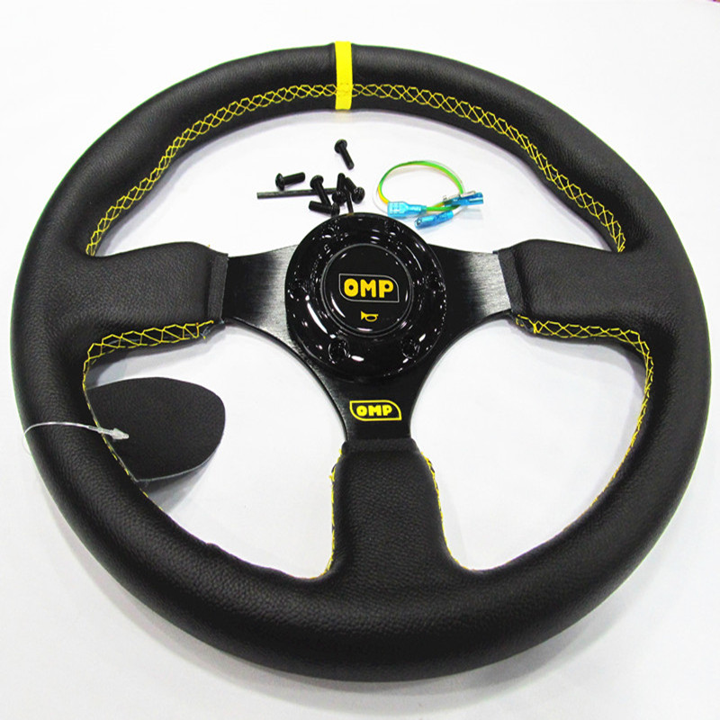 Universal 14inch 350mm OMP Steering Wheel leather Steering wheels