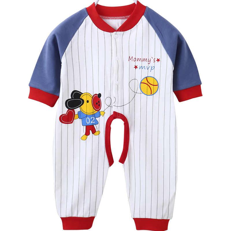 Ropa Neonatal para bebés recién nacidos ropa de una pieza de manga larga para niños y niñas en otoño algodón puro chaqueta con aire acondicionado