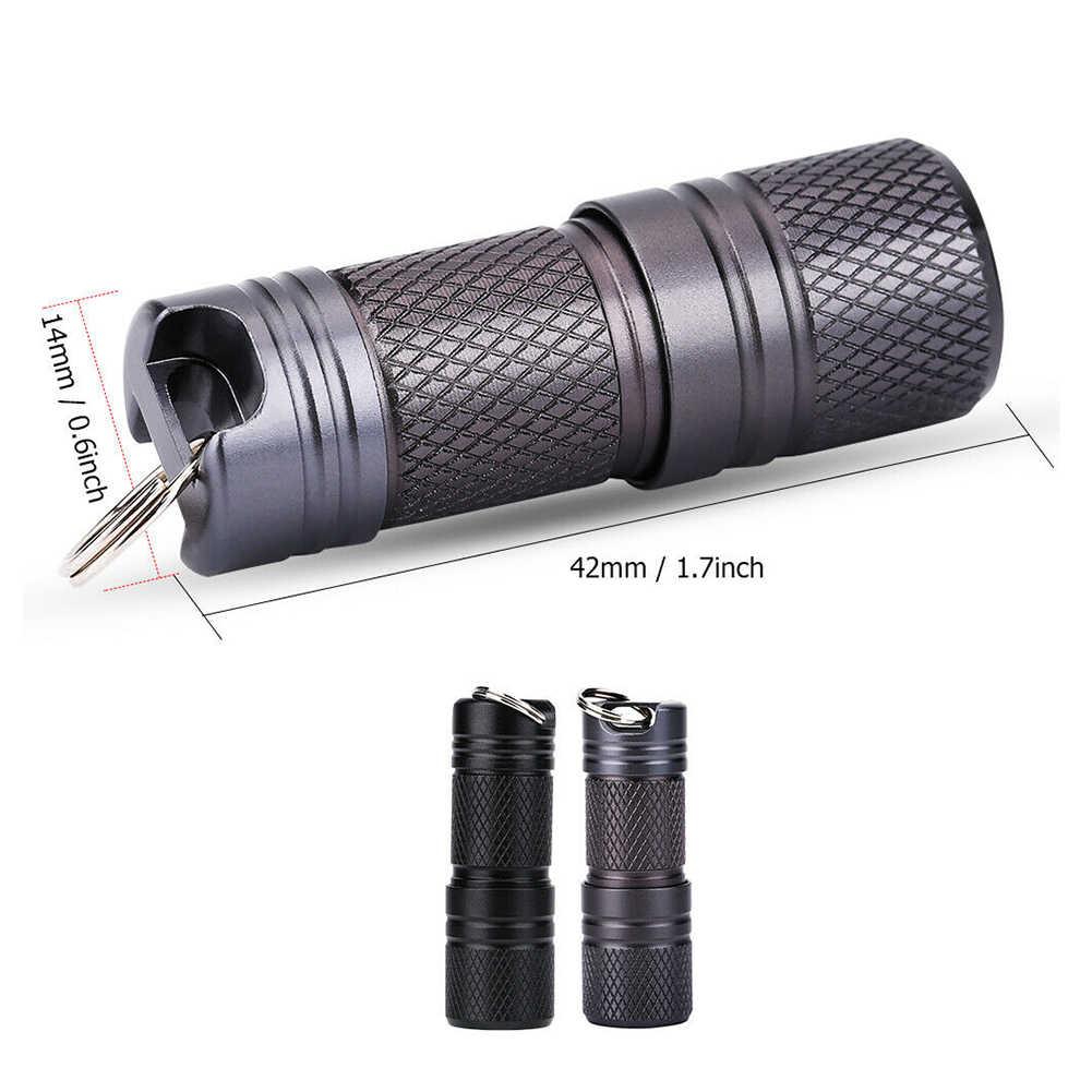 Portátil mini chaveiro usb recarregável led lanterna chave titular bolso chaveiros tocha lâmpada de iluminação noturna para acampamento/caminhadas