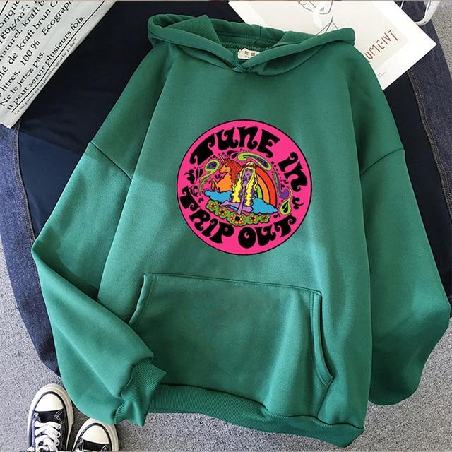 Women Hoodie para size Hoodies black Hoody tops clothing Sleeve Female clothes Print Sweatshirt thrasher vintage Harajuku Winter