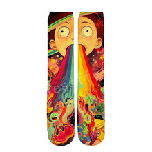 Tessffel Rick and Morty Anime Cartoon casual Unisex 3D Print boys/girls/mens/womens funny colorful Drop ship ankle socks style-2