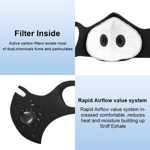 Image 5 - X tiger lavable sport entraînement cyclisme masque avec filtres charbon actif PM2.5 Anti Pollution cyclisme masque avec contour doreille