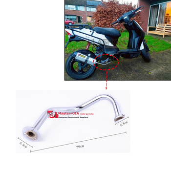 GY6 50cc 139qmb 139qma  contact pipe EXHAUST PIPE Universal Scooter Motorcycle Exhaust Muffler Contact To Engine 50 80
