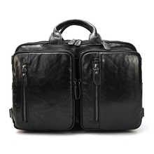 MAHEU Genuine Leather Briefcase for Men Multifunctional Cowhide Travel Bag 3 In 1 Office Man Work Shoulder Bag Bagpack Briefcase