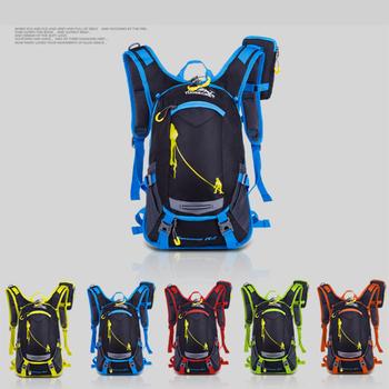 18L wodoodporny plecak sportowy plecak na kemping wyprawę rower plecak z torbą na wodę bezpłatna osłona przeciwdeszczowa tanie i dobre opinie VEMIKYSION CN (pochodzenie) 0inch Nylon Plecaki 0 8kg Waterproof Bag 26cm VK2020111202 22cm 45cm Black Red Yellow Green Orange