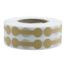 Etiquetas de empacotamento do produto da etiqueta da joia de barbell dos artigos brancos da parte alta do papel de embalagem de 500 pces/rolo, etiquetas feitas a mão dos artigos de papelaria