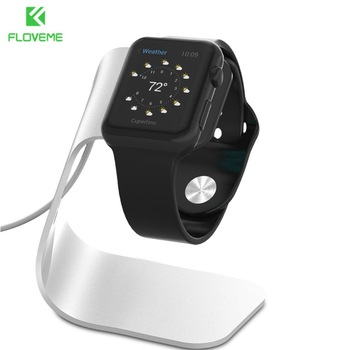 FLOVEME Metal Aluminum Charger Stand Holder for Apple Watch Bracket Charging Cradle Stand for Apple i Watch Charger Dock Station 1