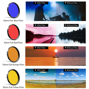 Image 5 - APEXEL 52mm 9in1 Full filter Lens Kits 0.45x wide+15x macro Lens 7in1 Full Blue Red Color Filter+CPL ND Star Filter for phones