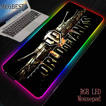 MRGBEST Game Player Rantopad Black Lockedge Large RGB Custom Backlit Mechanical Gaming Keyboard Mouse Pad DOTA2 Tank World CS