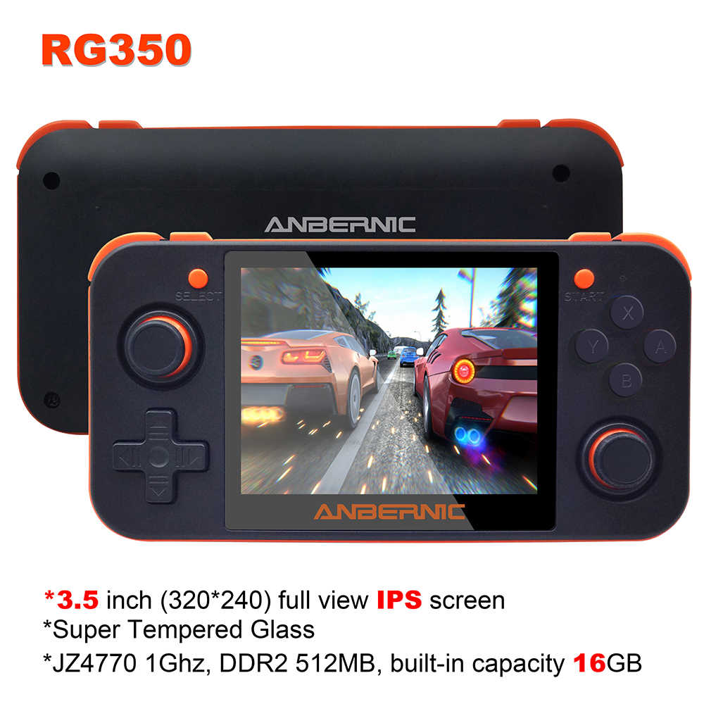 Nieuwe Anbernic RG350 Ips Retro Games RG350 Video Games Upgrade Game Console Ps1 Game 64bit Opendingux 3.5 Inch 15000 + games Rg350