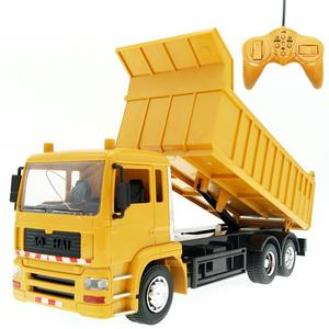 1/24 8CH Interlligent Remote Control Dumper Truck Engineering Car with Music LED Kids Toy Gift