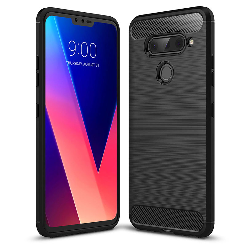 Carbon Fiber Silicone Case For LG G6 G7 G8S Thinq Mini V60 5G Q6 Stylo 5 X5 G9 One K10 2018 K12 Plus V40 V30S V35 V50 Case Cover