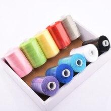 10 катушек/партия, многоцветная полиэфирная нить для шитья и квилтинга, Высококачественная швейная нить, подходит для рукоделия и машинки