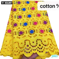 YF HZGJMY New Arrival Small Holes Design African Nigerian Dry Lace Fabric Latest Swiss Voile Lace In Switzerland wome dress lace