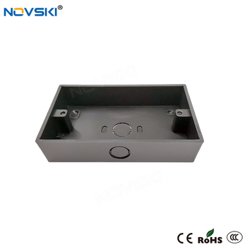цена на NOVSKI Black Baking Mounting Box External 146mm*86mm for Wall Switch and Socket