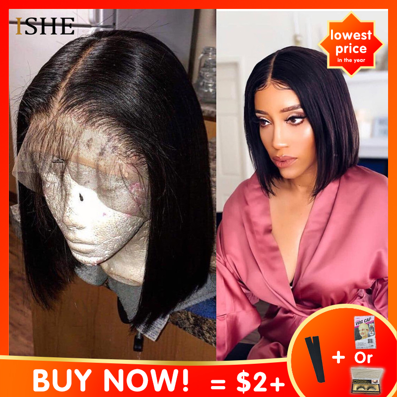13x6 Big Lace Front Human Hair Wigs Straight Ombre Blonde Red Bob Wigs Glueless Preplucked Remy Innrech Market.com