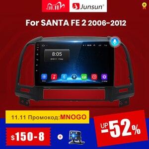 Image 1 - Junsun V1 Android 10.0 2G+32G DSP Car Radio Multimedia Video Player For Hyundai Santa Fe 2 2006 2012 Navigation GPS 2 din no dvd