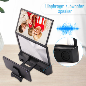 Image 4 - Besegad 12 inch 3D HD Phone Screen Amplifier Magnifier Movie Video Projector with Bluetooth Spearker Photo Frame Mobile Power