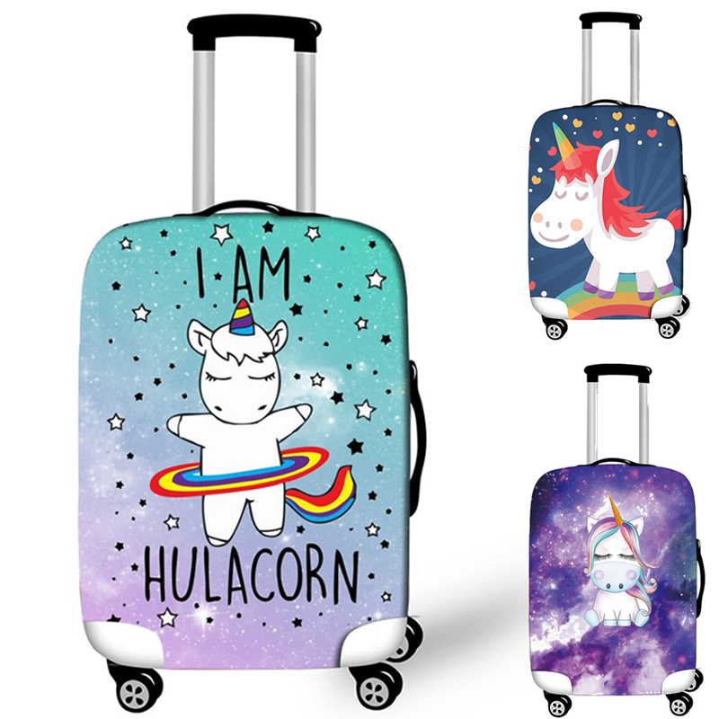Cute Cartoon Suitcase Case Protective Cover Elastic Travel Luggage Dust Cover Accessories Suitcases Organized 18 To 32 Inches
