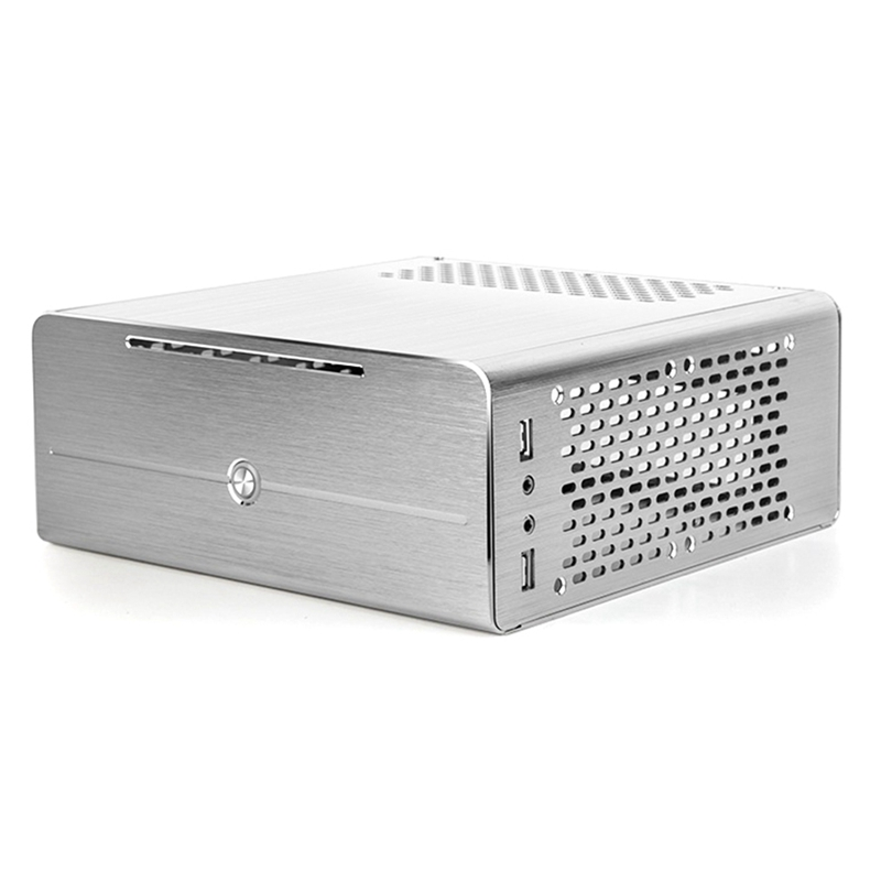 Mini Aluminum Alloy Case HTPC Micro-Computer Case Support Notebook Optical Drive Small Case