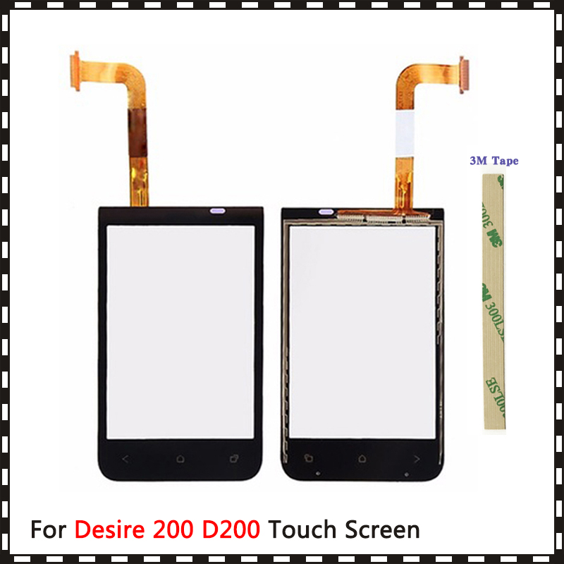 "Replacement High Quality 3.5"" For HTC Desire 200 D200 Touch Screen Digitizer Sensor Outer Glass Lens Panel"