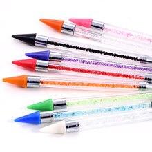 Crayon de ramassage en cristal coloré de haute qualité, outils de ramassage de strass pour Nail Art, bricolage de vêtements, perles, diamant, B1287