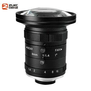 Image 2 - 새로운 모델 8mm 머신 비전 고정 초점 카메라 렌즈 5 메가 픽셀 hd cctv 렌즈 1 인치 f1.4 수동 아이리스 c 마운트 낮은 왜곡 렌즈