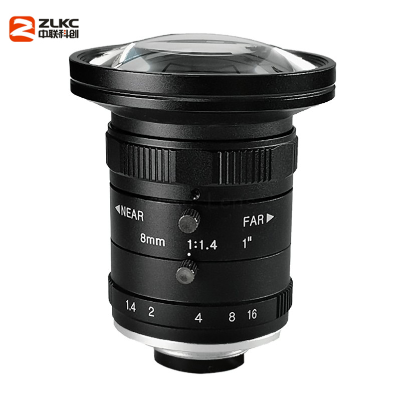Image 2 - New Model 8mm Machine Vision Fixed Focal Camera Lens 5Megapixel HD CCTV Lens 1 Inch F1.4 Manual Iris C Mount Low Distortion Lens-in CCTV Parts from Security & Protection