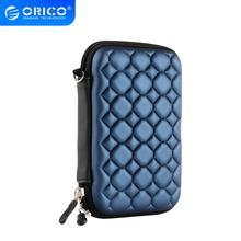 """ORICO Blue 2.5 """"외장형 휴대용 하드 디스크 보호 백 2.5 인치 HDD 케이스 용 SSD 파우치 SEAGATE HDD 용 데이터 케이블"""