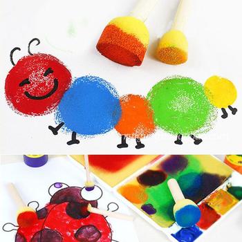 Diy Graffiti pędzel malarski dostarcza zabawki dzieci pianki malarstwo Art 39 sztuk zestaw kreatywny gąbka pędzel malarski zestaw malarski tanie i dobre opinie Chinget CN (pochodzenie) Z tworzywa sztucznego 4-6y 25-36m Drawing toy Unisex Other Zeszyt do nauki malowania kolorowania