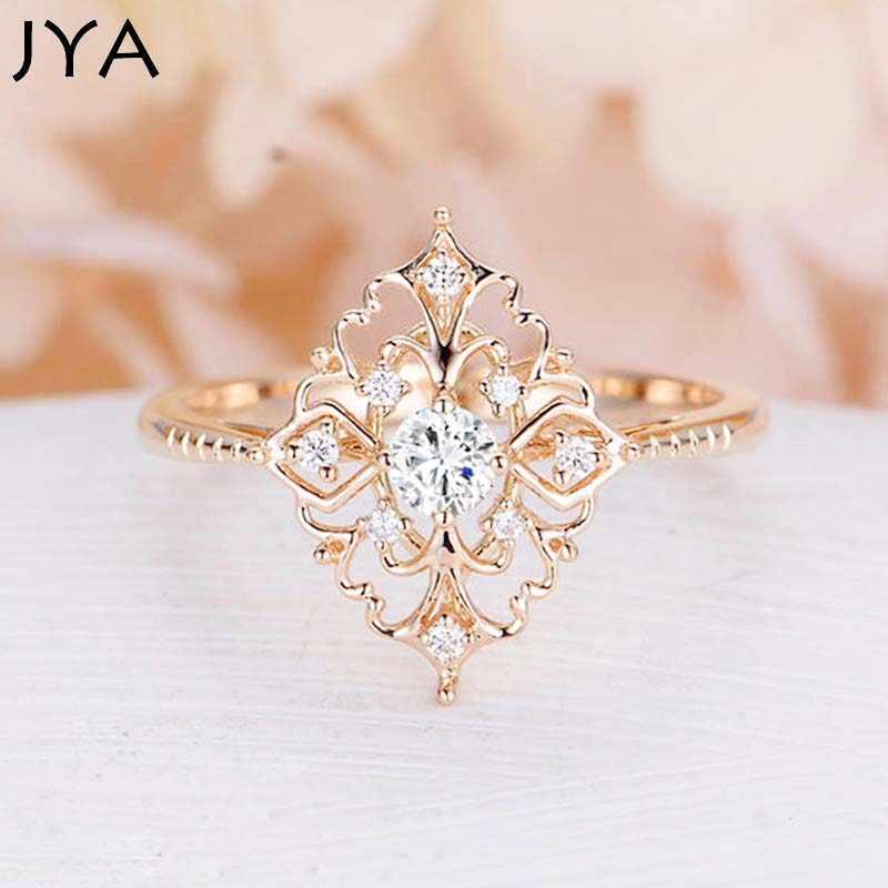 JYA, Ретро стиль, женские кольца в стиле барокко, Роскошная роза, золотой цветок, форма, обручальное кольцо, массивные ювелирные изделия, винтажные аксессуары со стразами