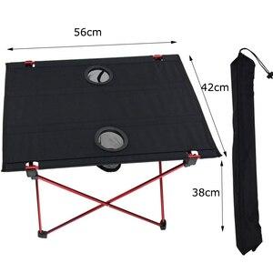 Image 5 - נייד קל משקל בחוץ שולחן עבור קמפינג שולחן אלומיניום סגסוגת פיקניק מנגל מתקפל שולחן חיצוני פרק חוף נסיעות שולחן