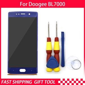 Image 3 - חדש מקורי עבור DOOGEE BL7000 מסך מגע LCD תצוגת Digitizer עצרת עם חלקי חילוף מסגרת + כלי