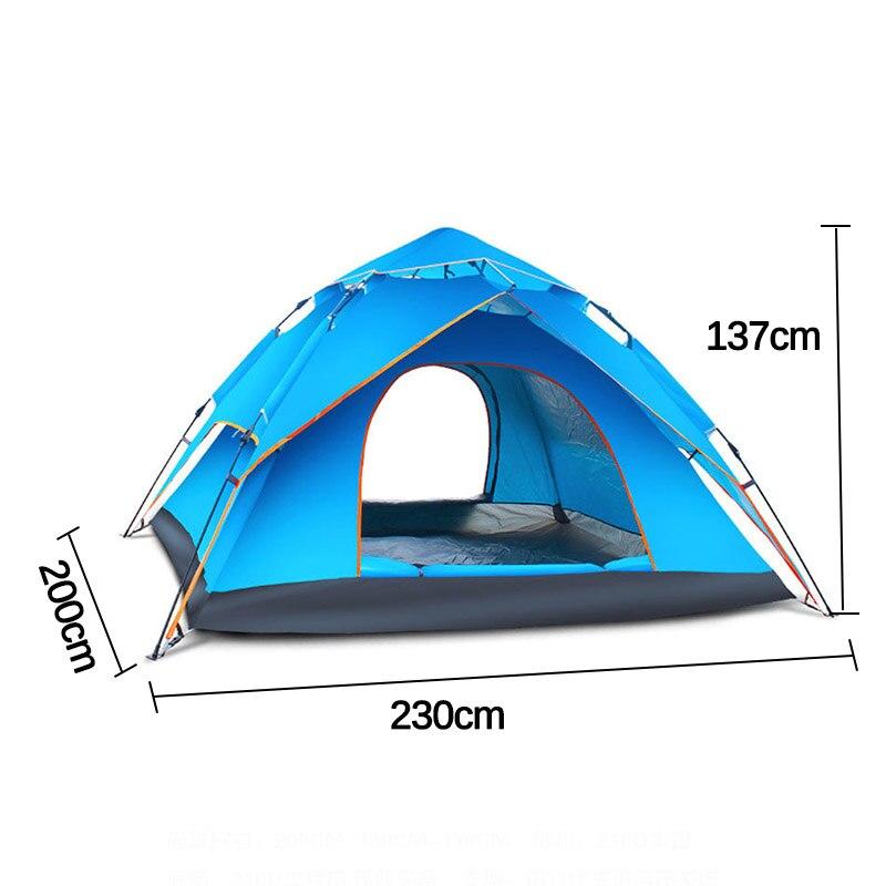 família tenda dupla camada configuração instantânea protable