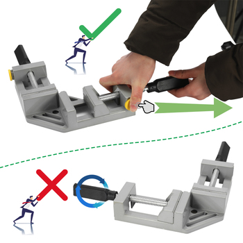Hot Woodworking Tools Double Handle For CNC Engraving Machine Milling Tool 90 Degree Clips Corner Right Angle Clamps