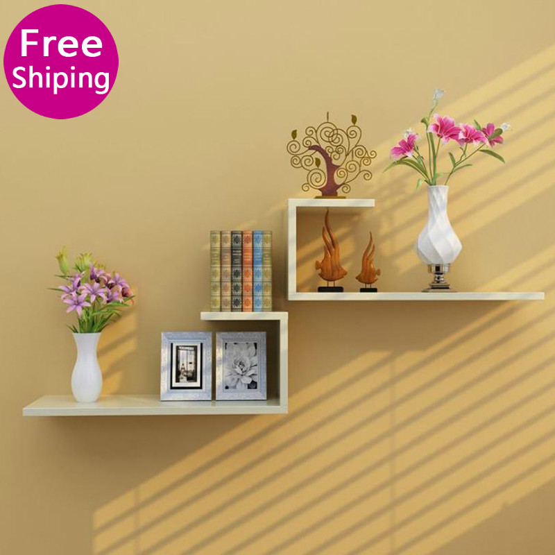 Wall Shelf Wall Hanging Creative Wall Partition Living Room TV Background Wall Decoration Shelf Bedroom Closet Lattice Wall Stor