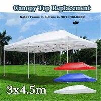 Yeni 3x4.5m Gazebo çadır 3 renkler su geçirmez bahçe çadırı Gazebo gölgelik beyaz dış ortam tente pazar çadır gölge parti Pawilon ogrodowy