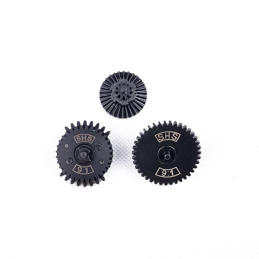 MODIKER 2019 New SHS / FB 9:1/ 13:1/16:1 High Speed Dual Sector Gear Set For Airsoft FB / JM Gen.8 / JM Gen.9 Gearbox - Black
