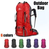 Large Capacity Waterproof 60L Mountaineering Bag Outdoor Sports Backpack